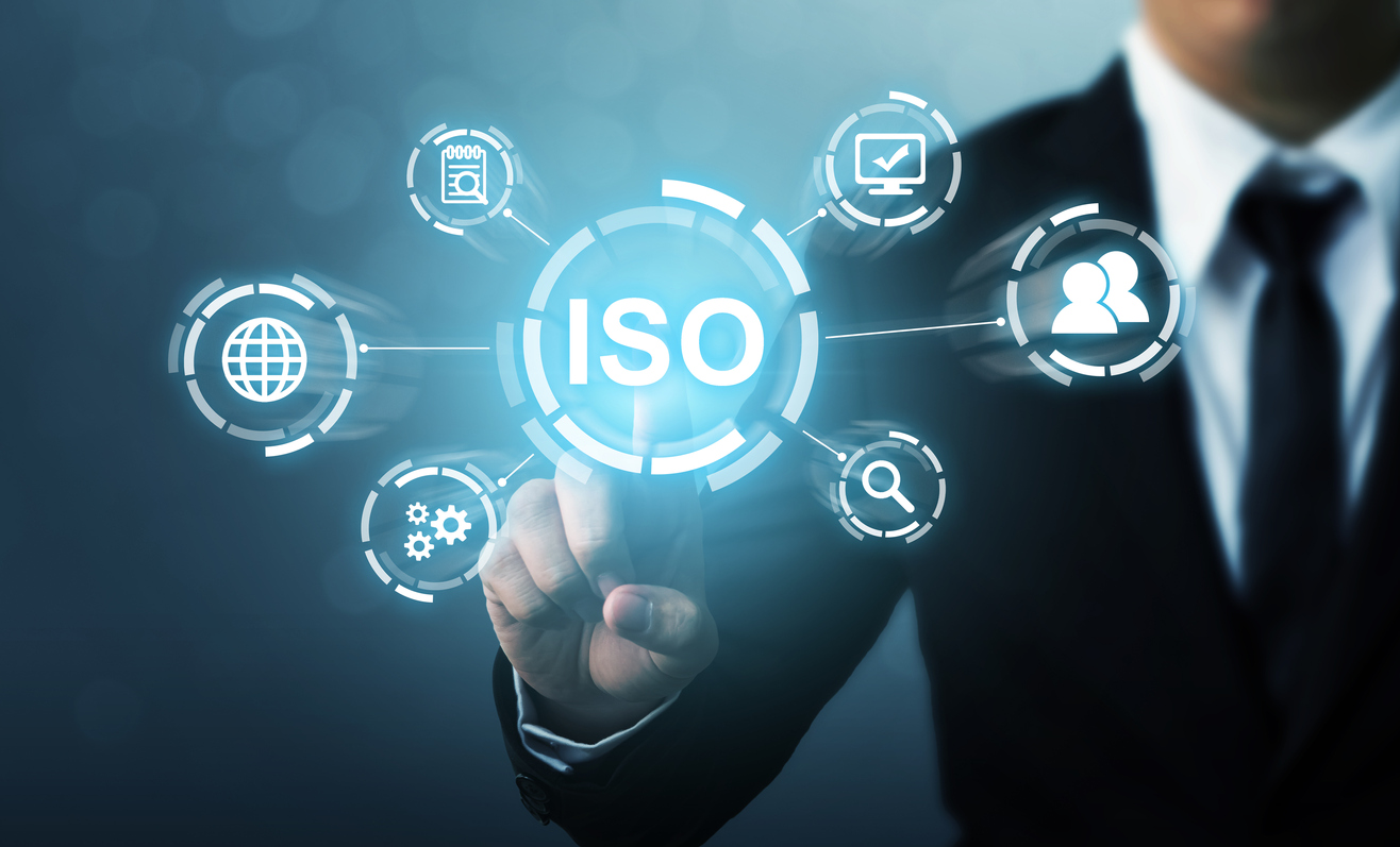 ISO standard ISO31030 creative element with explanatory icons
